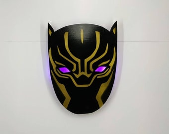 Black Panther Wooden Wall Light - Birthday, Christmas Gift/Present