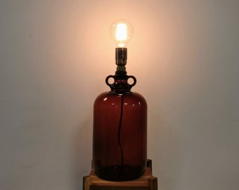 Upcycled Vintage Demijon Table Lamp
