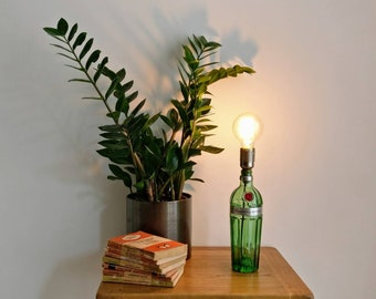 Upcycled Tanqueray No. Ten Gin Bottle Table Lamp- Small (70cl) and Large (1L)
