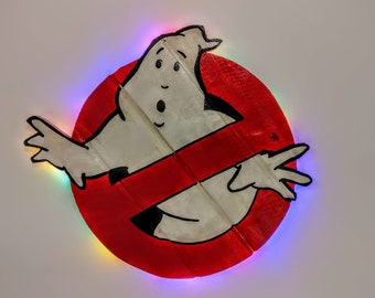 Ghostbusters Wooden Wall Art Hanging - Birthday, Christmas Gift/Present
