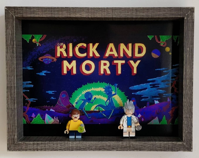 Featured listing image: Rick and Morty, Fan Art Mini Figure Frame