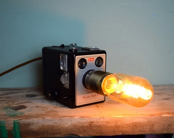 RARE Vintage Kodak Box Brownie Camera Lamp