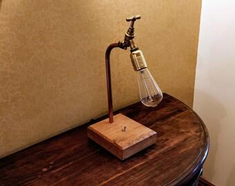Steampunk Copper Tap Lamp