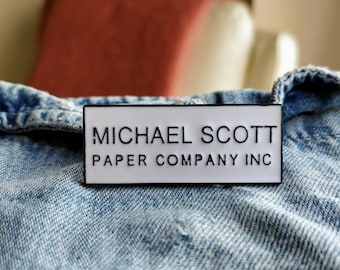 Michael Scott Paper Co Pin/Badge
