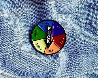 Flirtatious Spin the Wheel Pin/Badge