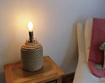 Upcycled Vintage Demijon Table Lamp