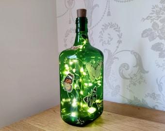 Green Butterfly Bottle Light