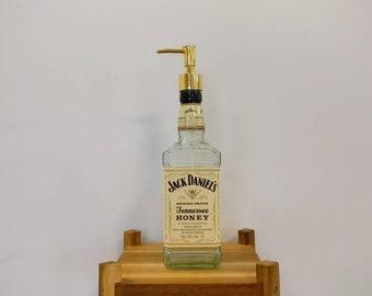 Jack Daniels Honey Whiskey Bottle Soap Dispenser, Upcycled Gift - UK