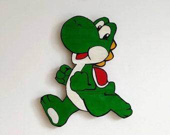 Super Mario Bros. Yoshi Wooden Wall Art Hanging - Birthday, Christmas Gift/Present