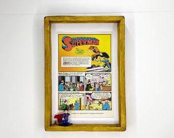 Superman Comic Strip Fan Art Figure Frame
