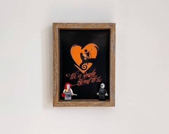 Jack and Sally, Fan Art Mini Figure Frame