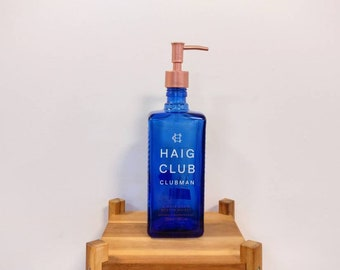 RARE Haig Club Clubman Blue Whisky Bottle Dispenser