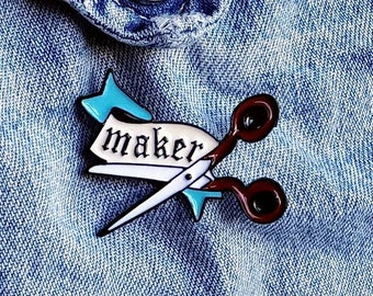 Maker Scissors Pin/Badge