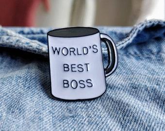 World's Best Boss Pin/Badge
