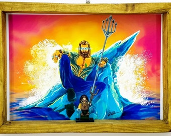 Aquaman Fan Art Figure Frame