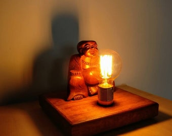 Laughing Buddha Edison Lamp