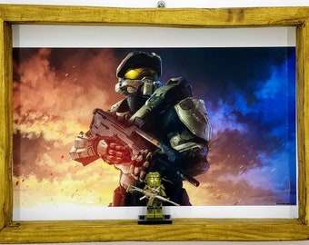 Halo Master Chief Fan Art Figure Frame