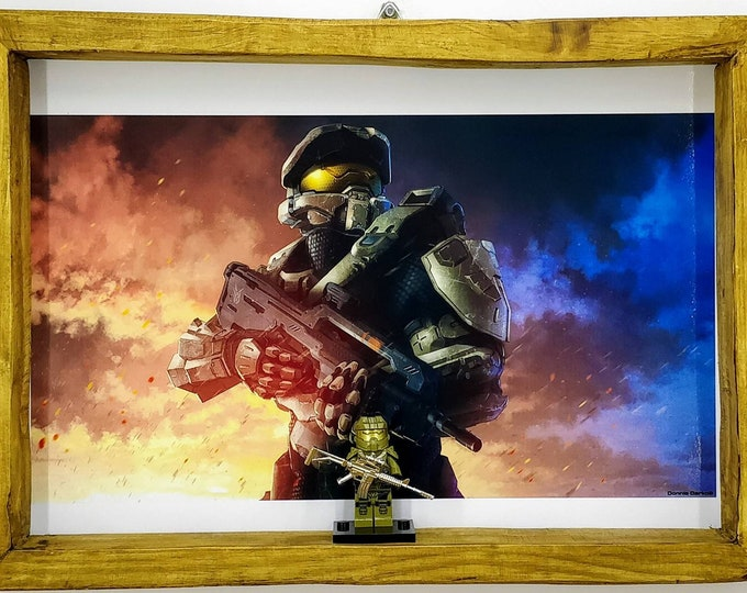 Featured listing image: Halo Master Chief Fan Art Figure Frame