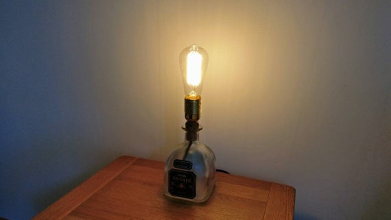 Gift UK RARE Upcycled Patron Tequila Bottle Table Lamp different options available