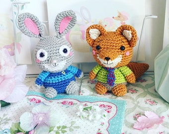 Judy Hopps or Nick Wilde ( Zootopia ) crochet doll amigurumi disney