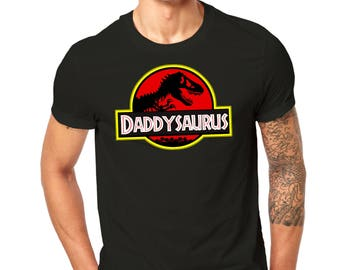Daddysaurus Men's Black T-Shirt All Sizes S M L XL 2XL 3XL 4XL 5XL
