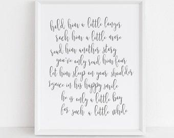 Boy nursery quote | Etsy
