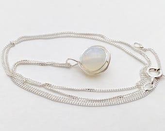 Opalite necklace, 925 sterling silver opalite pendant, silver opalite necklace, opalite jewellery, opal necklace, opalite jewelry