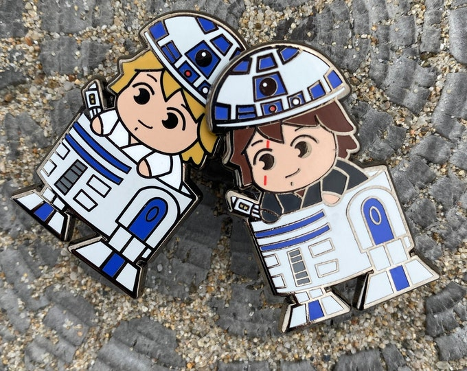 Luke and Anakin Roller Pins Limited Release