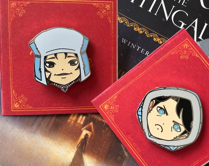 The Witch and the Winter Demon Enamel Pin - Limited Edition