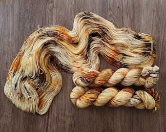 Acorn Drop *PREORDER*   Hand Dyed Yarn   Fingering   DK   Worsted   Bulky   Superwash Merino Wool   Fall Yarn