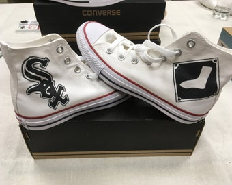 fd2313c4478 Chicago White Sox hand painted Converse