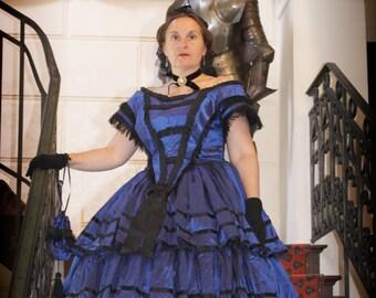 abb5dcdefa7 SUR COMMANDE Robe de bal second empire 1855 bal gown civil war bal gown 1860s  dress
