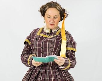 1f7c3754cba Robe de jour 1860 robe de jour victorienne Robe second empire 1860s day  dress civil war dress frontier dress