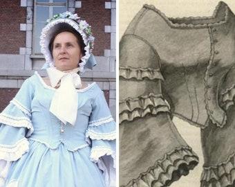e0d1fdef1bb Robe 1860 commande personnalisée  Robe second empire victorian dress custom  order 1860s dress civil war dress robe 1860