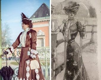8d9a1c59de8 Robe 1900 commande personnalisée  Robe belle époque Edwardian dress custom  order 1900s dress