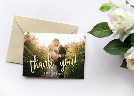 Custom Photo Thank You Card Wedding Thank You Card Etsy