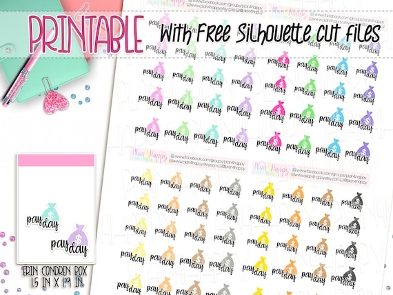 graphic regarding Printable Stickers Sheets identified as Printable Planner Stickers, Pay back Working day Stickers, Dollars Bag Stickers, Icon Stickers Simple Stickers, Printable Sticker Sheets