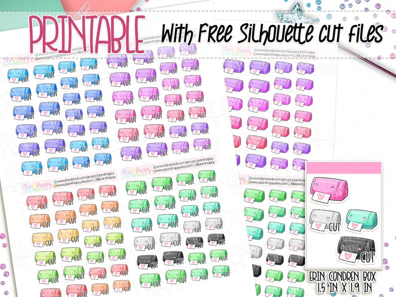 picture about Printable Sticker Sheets known as Printable Planner Stickers, Slicing Gadget Stickers, Sticker Cutter Stickers, Realistic Stickers, Printable Sticker Sheets