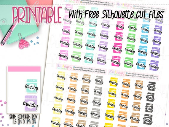 picture regarding Printable Sticker Sheets named Printable Planner Stickers, Laundry Stickers, Washing Gadget Stickers, Icon Stickers Sensible Stickers, Printable Sticker Sheets