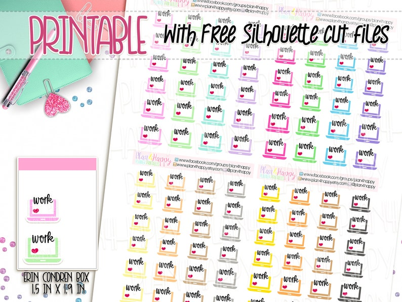 Printable Planner Stickers Work Stickers Computer Stickers Etsy