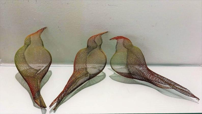 Charmant 3 Birds Sculptures, Set Of 3 Wall Art, Bird Mobile Decor, Shelf Decor, Wire  Mesh Sculpture, Metal Birds Wall Art, Set Of 3 Wall Decor