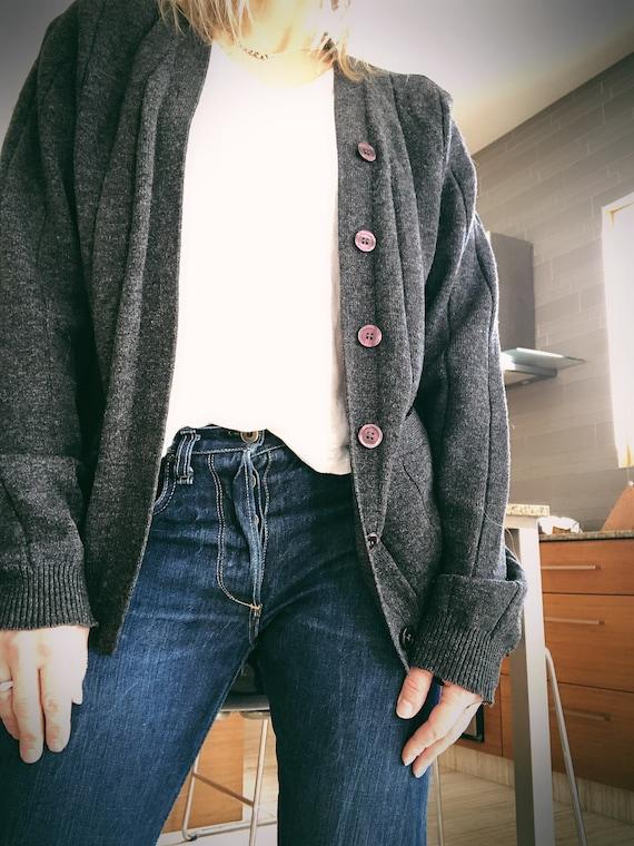 Vintage Button Down Sweater