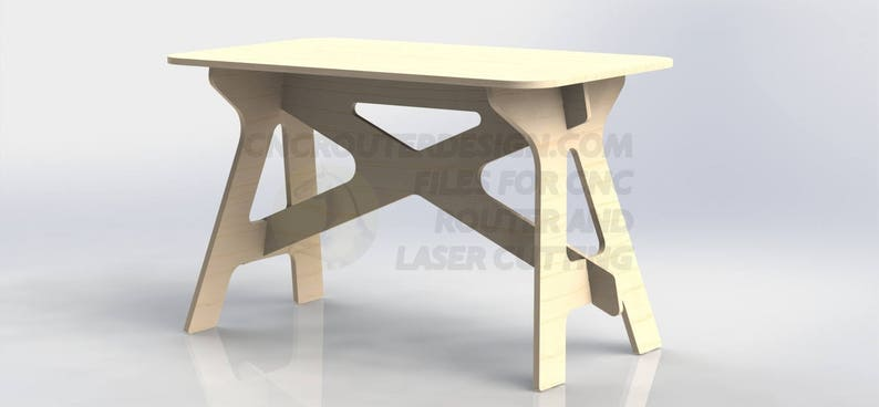 CNC Router File DXF - Table With Easel For Aspire ArtCAM VCarve Woodworking  052