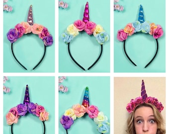 Unicorn Headband, Unicorn Birthday, Unicorn Party, Birthday Headband, Photo Props, Baby Shower Gift, Wedding Gift Unicorn, Unicorn Costume