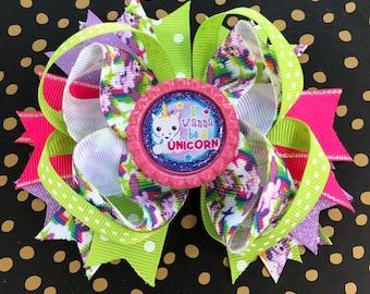 Unicorn Hair Bows, Unicorn Birthday, Unicorn Headbands, Unicorn Gift, Unicorn Party, Toddler Bows, Unicorn Birthday, Bows For Girls, Bows