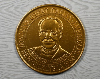1972 Bronze Mardi Gras Medallion Medal Slidell Louisana American Indian Coin Club Memorabilia Souvenir Event f1788