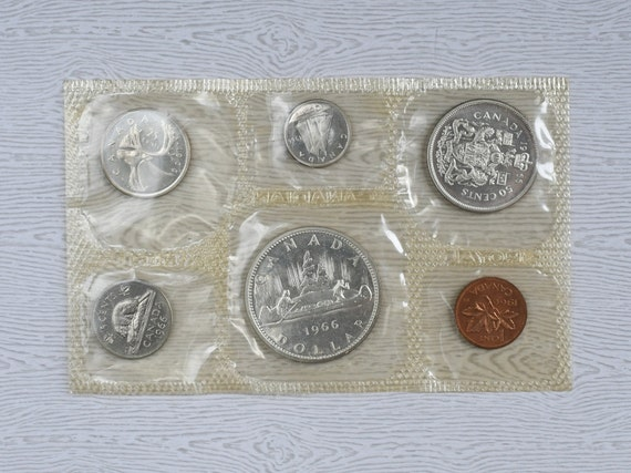 """/""""FREE SHIPPING/"""" 1971 CANADA 6 COIN PL MINT SET IN ORIGINAL RCM PACKAGING"""