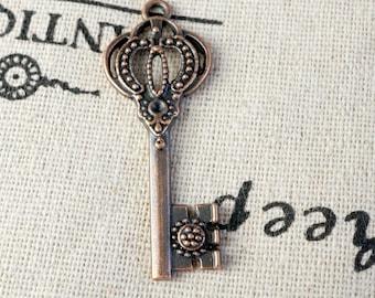 Key charm 4 copper vintage style  jewellery supplies C169