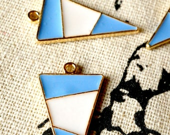 Triangle geometric gold 2 charms jewellery supplies