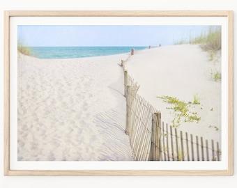 Sand Dune Fence - Beach Photography, Sand Dune Photos, Beach House Decor, Coastal Photography, Shabby Chic Beach Art, Sand Dunes, Ocean Art